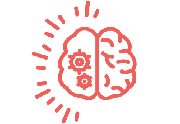 Logo brain and wheels.